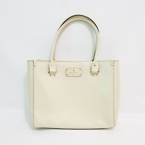 Gorgeous Kate Spade Pearly Off White Leather Tote